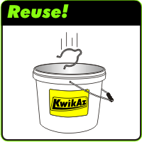 Remove Step 2 - Drop clip into bucket for reuse on next job
